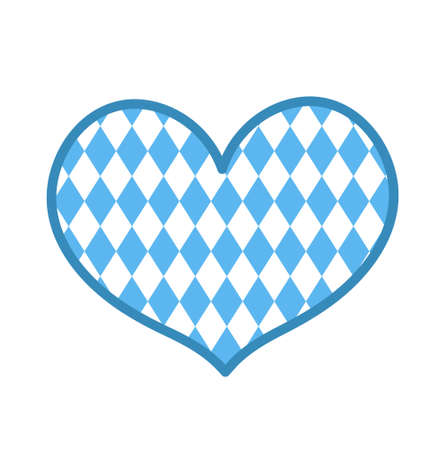 Oktoberfest in the heart shape icon is a flat style. Isolated on white background. Vector illustration