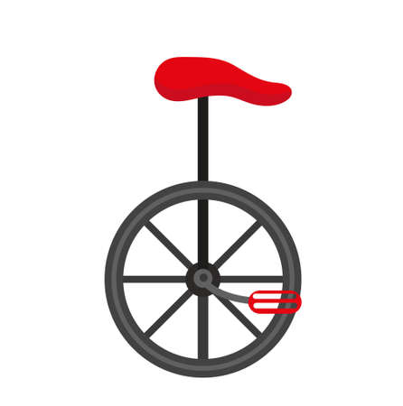 Unicycle circus icon for flat style , isolated on white background. Vector illustration Illustration