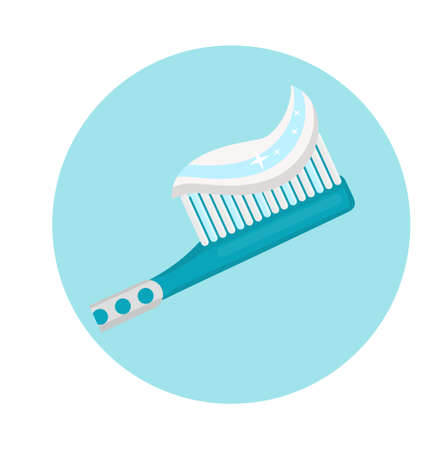 Toothbrush icon flat style. Dentistry, dentist concept. Vector illustration