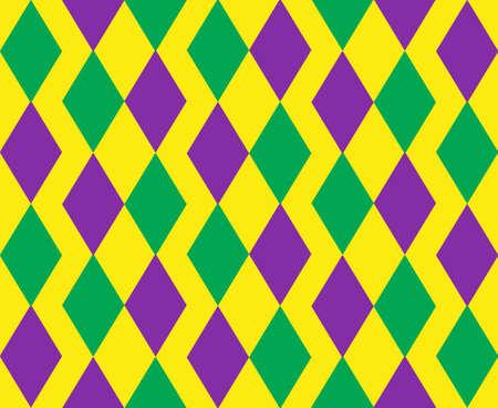 Mardi Gras abstract geometric pattern.