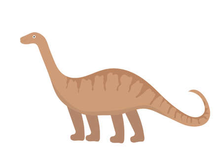 Apatosaurus icon flat style. Isolated on white background. Vector illustration. Illustration