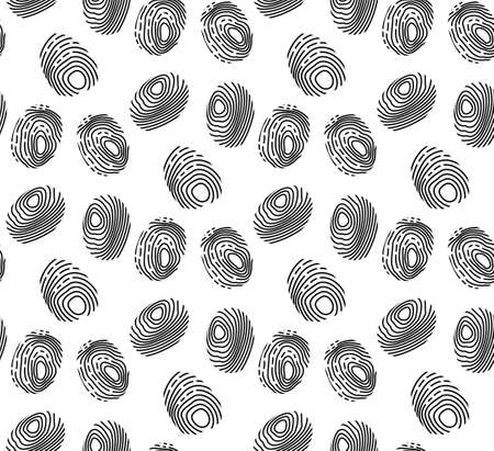 Fingerprint seamless pattern. repeating texture, endless background. Vector illustration.