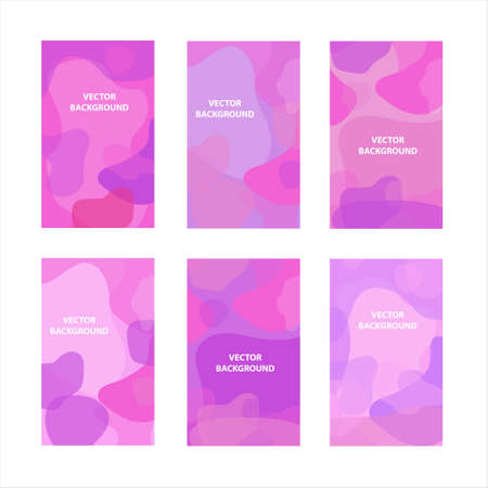 Abstract modern hipster poster set, round fluid shapes. Scandinavian minimalism style. Vector illustration.