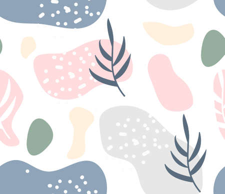 Abstract modern hipster style seamless pattern.Trendy contemporary art background. Vector illustration. 矢量图像