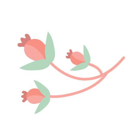 Plant flower icon flat, cartoon style. Vector illustration.