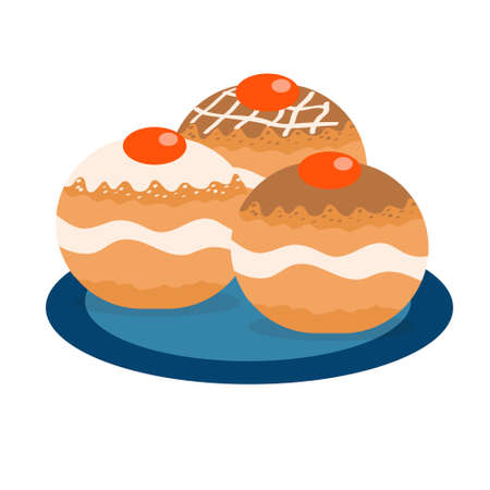 Dreidel hanukkah icon flat, cartoon style. Vector illustration.