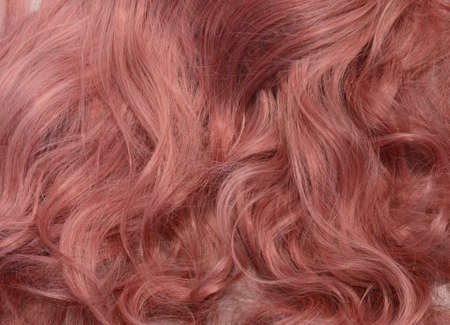 Hair pink red. Textures, background. 免版税图像