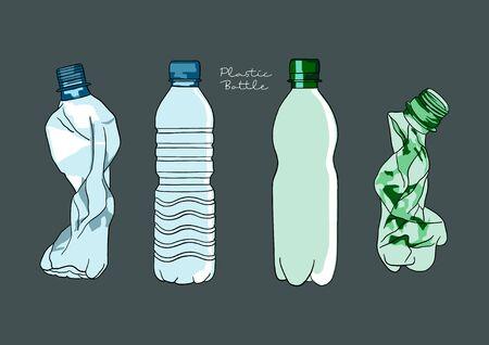Vector Illustration of Plastic Bottles
