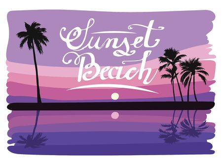 beach sunset: Sunset beach