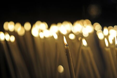 candles in Lourdes, France