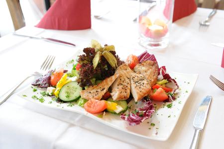 고급 식당에서 요리하다. 스톡 콘텐츠