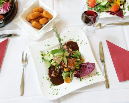 dish in a fine restaurant Фото со стока