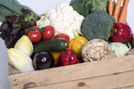 box with vegetables Фото со стока