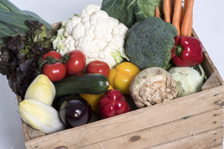 box with vegetables 写真素材