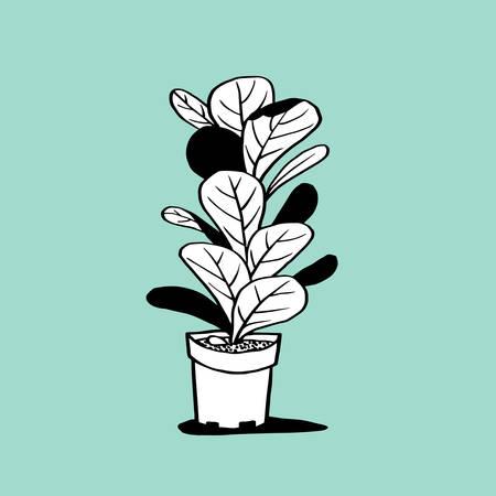 Pot and Plant  イラスト・ベクター素材