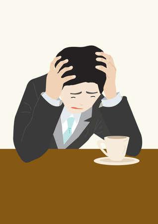 Unhappy Business Man Stock Vector - 12380324