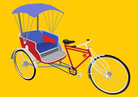 driewieler: Driewieler in Thailand Stock Illustratie