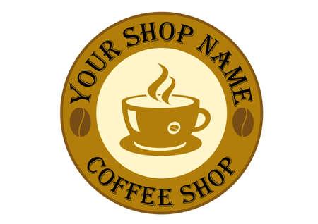 Coffee Shop Logo Sign Stock Vector - 15828982