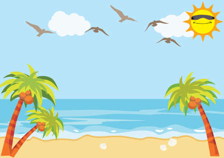 beach scene: Sea Sand Beach Background