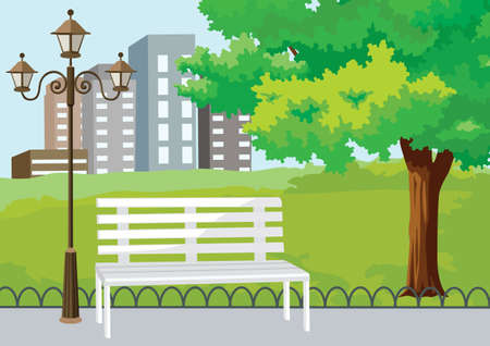 banc de parc: Parc public de la ville