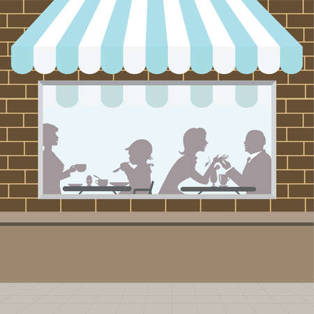 Front of coffee shop view Vector