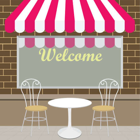 Outside view of the coffee shop Stock Vector - 17005197