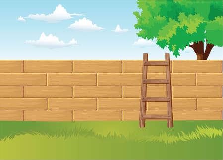 back yard: Home Back Yard Illustration