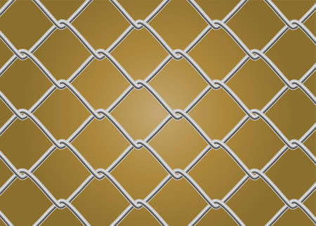 link fence: Chain Link Fence Vector Illustration