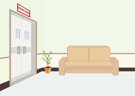 operating room: Frente de la Sala de Operaciones