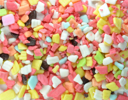 jimmies: Rainbow Sprinkles Confectionery Topping Background