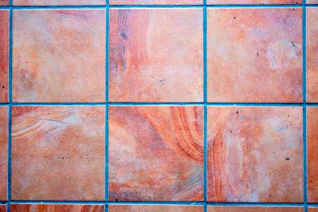 stone texture tile background patchwork, brown Foto de archivo