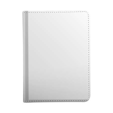 Realistic blank white book mockup. Book template isolated on white background 向量圖像