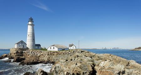 Wide Angle Boston Lighthouse Panorama