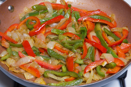 sautee: A Pan Full of Peppers and Onions