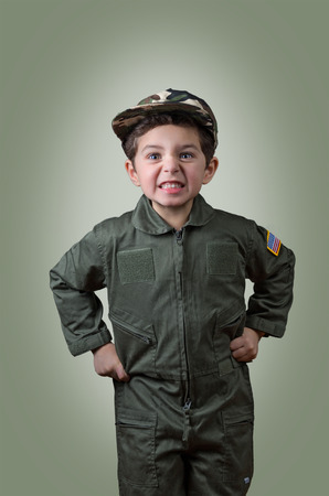 Child drill sergeant ready to take care of recruits