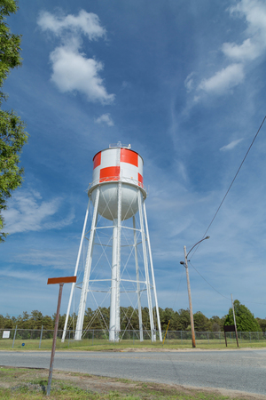 water tower: Water Tower with Checkered Design Portrait angle