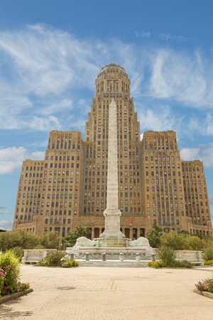 downtown district: City Hall in Buffalo New York, downtown district Stock Photo