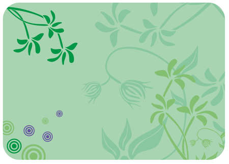 Decorative floral green background.  Stock Vector - 9535515