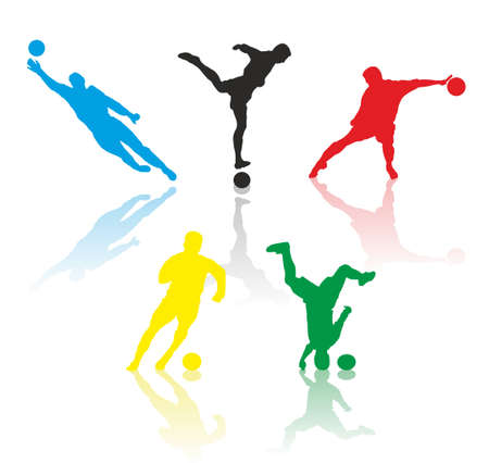 Soccer silhouettes Vector
