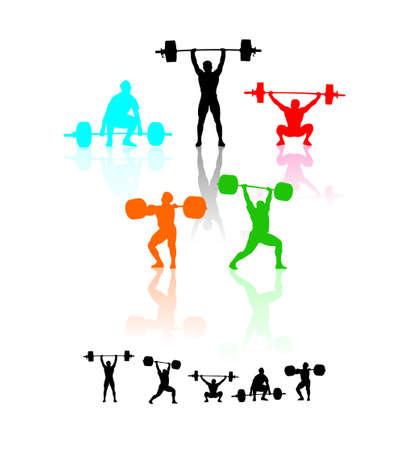 trizeps: Gewichtheber Illustration
