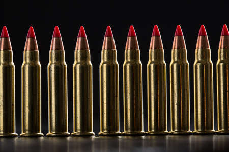 ranked: Cartridges ranked with red tip on a black background