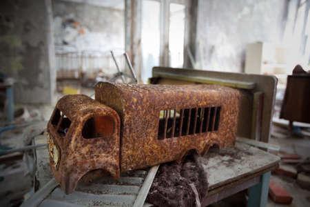 lost city: Kindergarten.Chernobyl area. Lost city Pripyat. Modern ruins. Ukraine. Kiev region