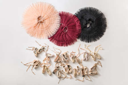 Tutus and ballet shoes Stock Photo