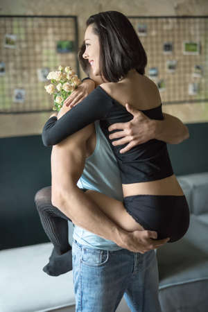 Sexy hugging couple Stock Photo