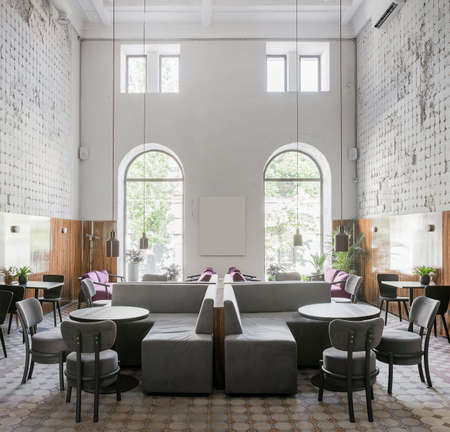 Restaurant in loft style