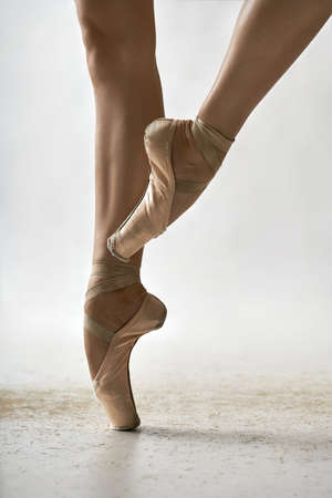 Ballet dancer posing in studio Stock Photo