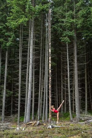 Ballet dancer posing outdoors