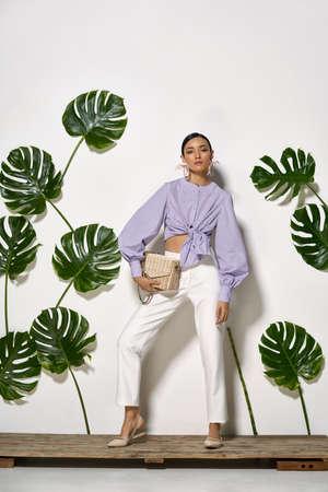 Asian model in studio 스톡 콘텐츠