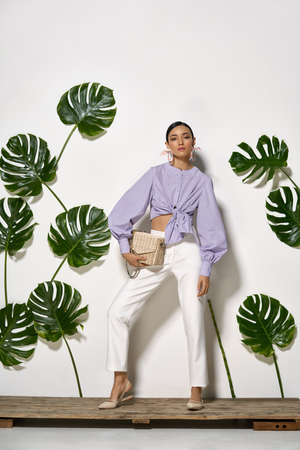 Asian model in studio Standard-Bild