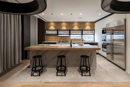 Stylish modern kitchen Фото со стока